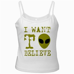 I Want To Believe Ladies Camisoles by Samandel