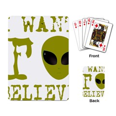 I Want To Believe Playing Card by Samandel