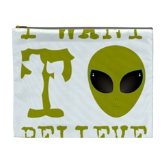 I Want To Believe Cosmetic Bag (xl) by Samandel