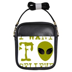 I Want To Believe Girls Sling Bags