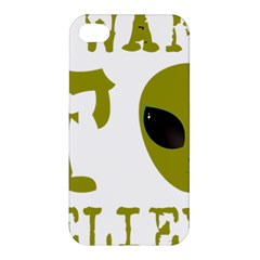 I Want To Believe Apple Iphone 4/4s Premium Hardshell Case by Samandel