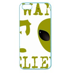 I Want To Believe Apple Seamless Iphone 5 Case (color)
