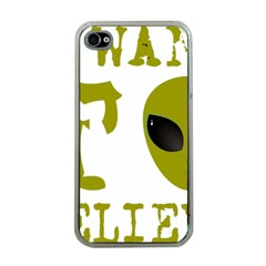 I Want To Believe Apple Iphone 4 Case (clear) by Samandel