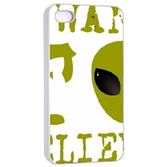 I Want To Believe Apple Iphone 4/4s Seamless Case (white) by Samandel