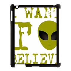 I Want To Believe Apple Ipad 3/4 Case (black)