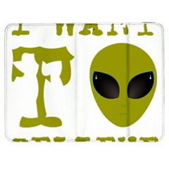 I Want To Believe Samsung Galaxy Tab 7  P1000 Flip Case