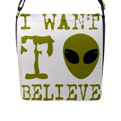 I Want To Believe Flap Messenger Bag (l)  by Samandel