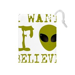 I Want To Believe Drawstring Pouches (medium)  by Samandel