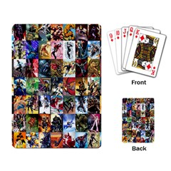 Comic Book Images Playing Card by Samandel