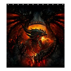 Dragon Legend Art Fire Digital Fantasy Shower Curtain 66  X 72  (large)  by Samandel