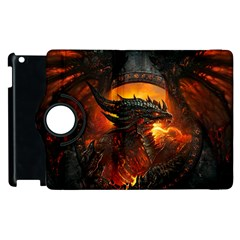 Dragon Legend Art Fire Digital Fantasy Apple Ipad 2 Flip 360 Case