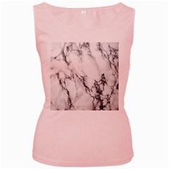 Marble Pattern Women s Pink Tank Top by Samandel