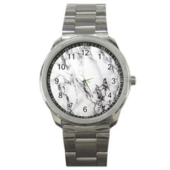 Marble Pattern Sport Metal Watch