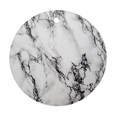 Marble Pattern Round Ornament (two Sides)
