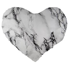 Marble Pattern Large 19  Premium Flano Heart Shape Cushions