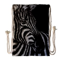 Zebra Drawstring Bag (large) by ArtByThree