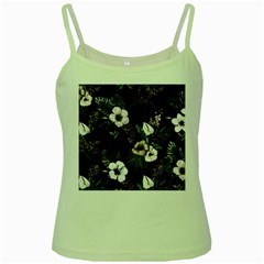 Tropical Pattern Green Spaghetti Tank