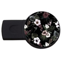 Tropical Pattern Usb Flash Drive Round (4 Gb) by Valentinaart