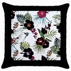 Tropical Pattern Throw Pillow Case (black)