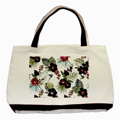 Tropical Pattern Basic Tote Bag (two Sides) by Valentinaart