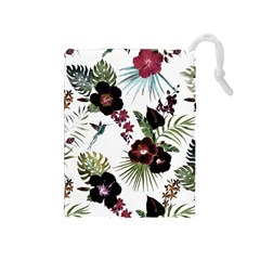 Tropical Pattern Drawstring Pouches (medium)