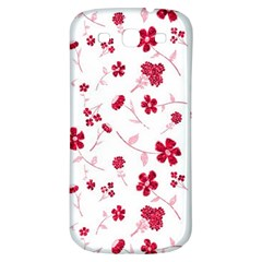 Sweet Shiny Floral Red Samsung Galaxy S3 S Iii Classic Hardshell Back Case by ImpressiveMoments