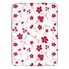 Sweet Shiny Floral Red Samsung Galaxy Tab 3 (10 1 ) P5200 Hardshell Case  by ImpressiveMoments