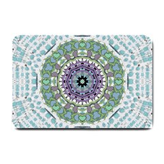 Hearts In A Decorative Star Flower Mandala Small Doormat