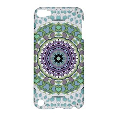 Hearts In A Decorative Star Flower Mandala Apple Ipod Touch 5 Hardshell Case by pepitasart