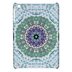 Hearts In A Decorative Star Flower Mandala Apple Ipad Mini Hardshell Case by pepitasart