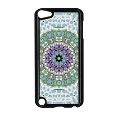 Hearts In A Decorative Star Flower Mandala Apple Ipod Touch 5 Case (black) by pepitasart
