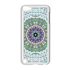 Hearts In A Decorative Star Flower Mandala Apple Ipod Touch 5 Case (white) by pepitasart