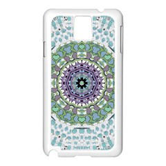 Hearts In A Decorative Star Flower Mandala Samsung Galaxy Note 3 N9005 Case (white) by pepitasart