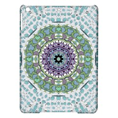 Hearts In A Decorative Star Flower Mandala Ipad Air Hardshell Cases by pepitasart