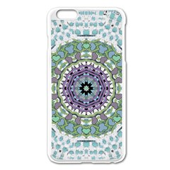 Hearts In A Decorative Star Flower Mandala Apple Iphone 6 Plus/6s Plus Enamel White Case by pepitasart