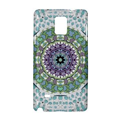 Hearts In A Decorative Star Flower Mandala Samsung Galaxy Note 4 Hardshell Case by pepitasart