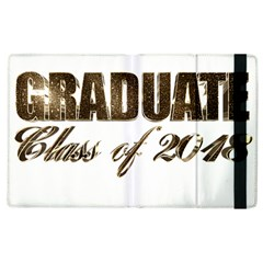 Graduate Typography Class Of 2018 Golden Faux Gold Foil Text Chic Graduation Apple Ipad 2 Flip Case by yoursparklingshop