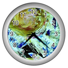 June Gloom 6 Wall Clocks (silver)  by bestdesignintheworld