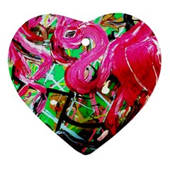 Flamingo   Child Of Dawn 9 Heart Ornament (two Sides) by bestdesignintheworld