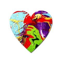 Untitled Island 5 Heart Magnet by bestdesignintheworld