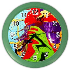 Untitled Island 5 Color Wall Clocks by bestdesignintheworld