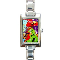 Untitled Island 5 Rectangle Italian Charm Watch