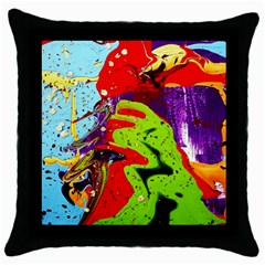 Untitled Island 5 Throw Pillow Case (black) by bestdesignintheworld
