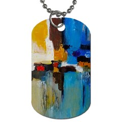 Abstract Dog Tag (two Sides) by consciouslyliving