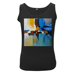 Abstract Women s Black Tank Top