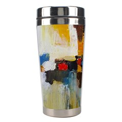 Abstract Stainless Steel Travel Tumblers by consciouslyliving