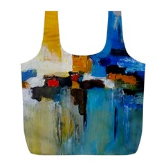 Abstract Full Print Recycle Bags (l)  by consciouslyliving