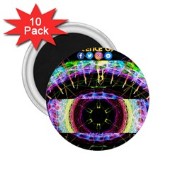 Crowned Existence Of Neon 2 25  Magnet (10 Pack)