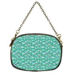 Green Leaves Pattern Chain Purses (one Side)  by nomadsoul