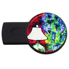 Lilac, Lamp And Curtain Window 2 Usb Flash Drive Round (2 Gb) by bestdesignintheworld